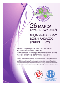 PURPLE DAY ulotka