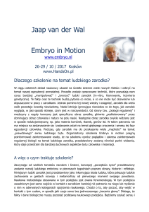 Embryo in Motion.Opis PL - Instytut Treningowy HandsOn