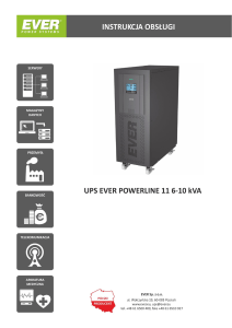 Instrukcja UPS POWERLINE 6-11/10-11