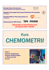 chemometria - L ogo Faculty of Chemical Technology Poznan