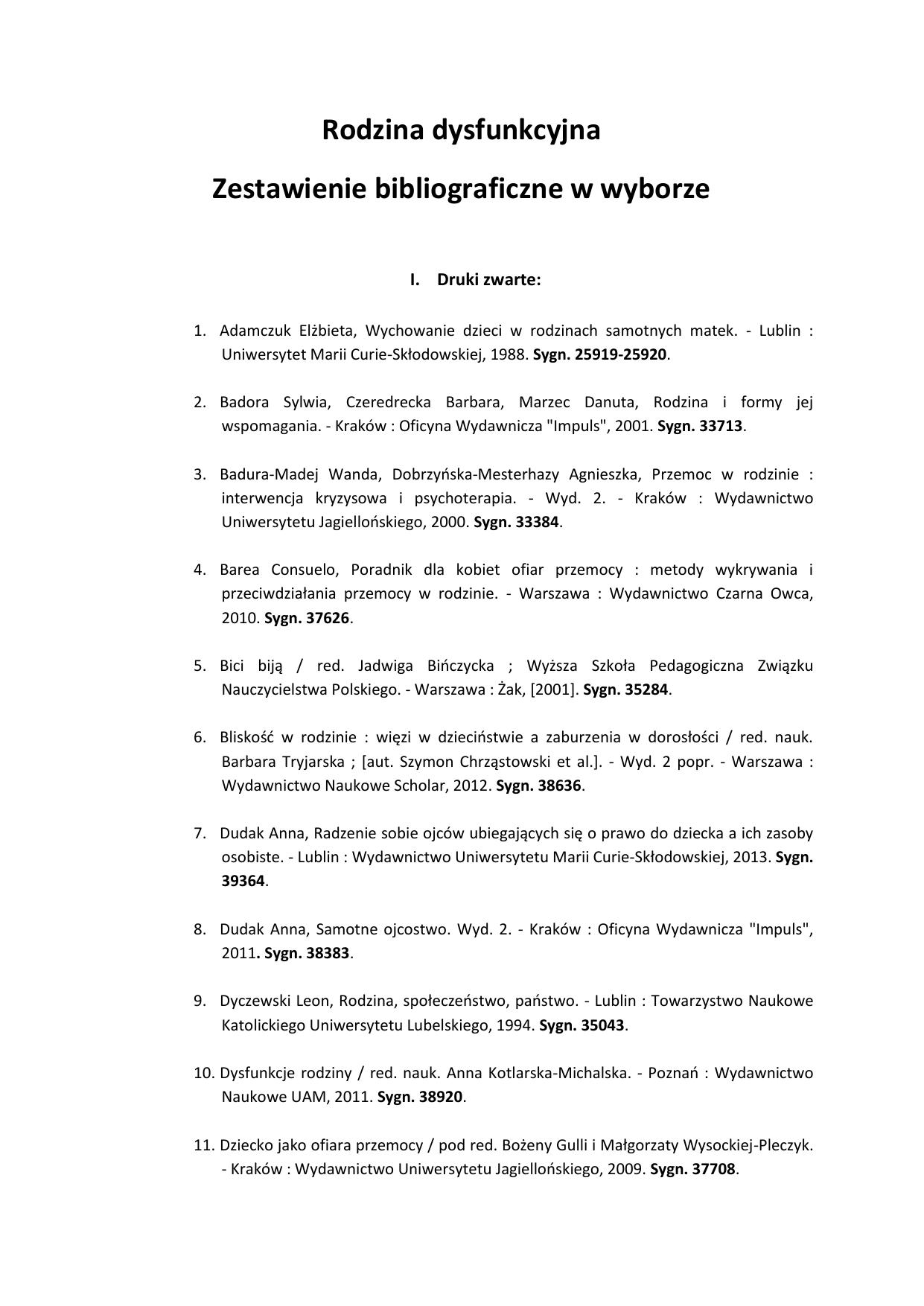 zydw w pile - Bibliografia Publikacji Pracownikw