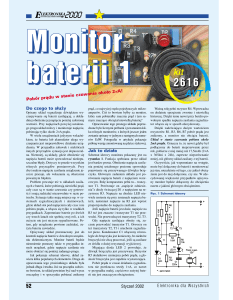 Monitor baterii 1