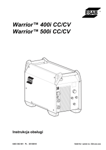 Warrior™ 400i CC/CV Warrior™ 500i CC/CV