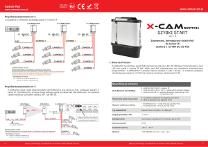 Switch PoE - X-CAMswitch