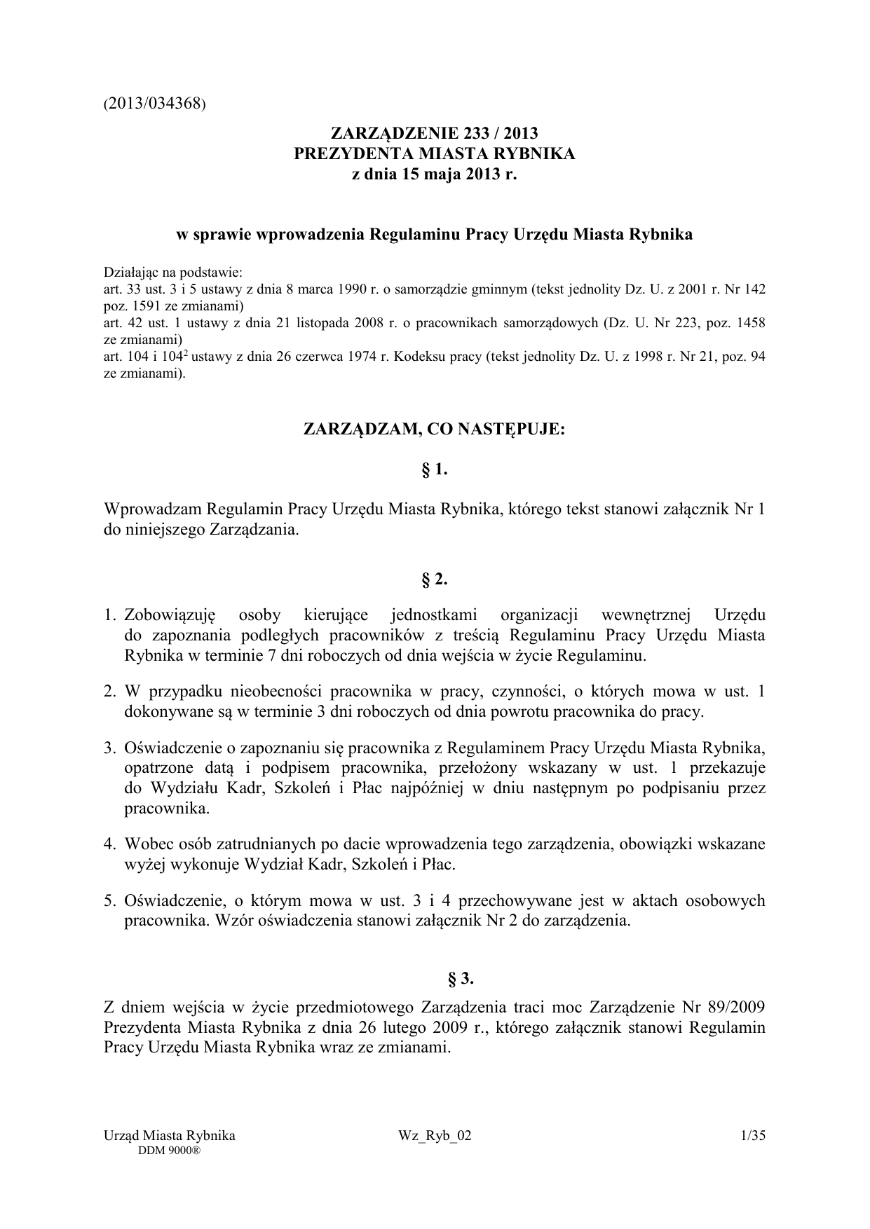 2013 034368 0 1 Regulamin Pracy Um