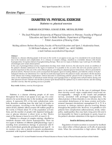 Review Paper DIABETES VS. PHYSICAL EXERCISE
