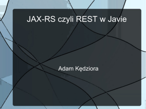 JAX-RS czyli REST w Javie