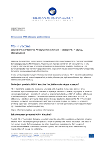 MS-H Vaccine - European Medicines Agency