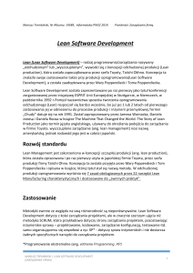 Lean Software Development * Zarz*dzanie firm*