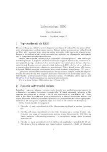 Laboratorium: EEG