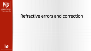 Refractive errors and correction