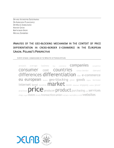 2016.III ANALYSIS OF  GEO-BLOCKING IN THE CONTEXT OF PRICE DIFFERENTIATION. POLAND'S PERSPECTIVE